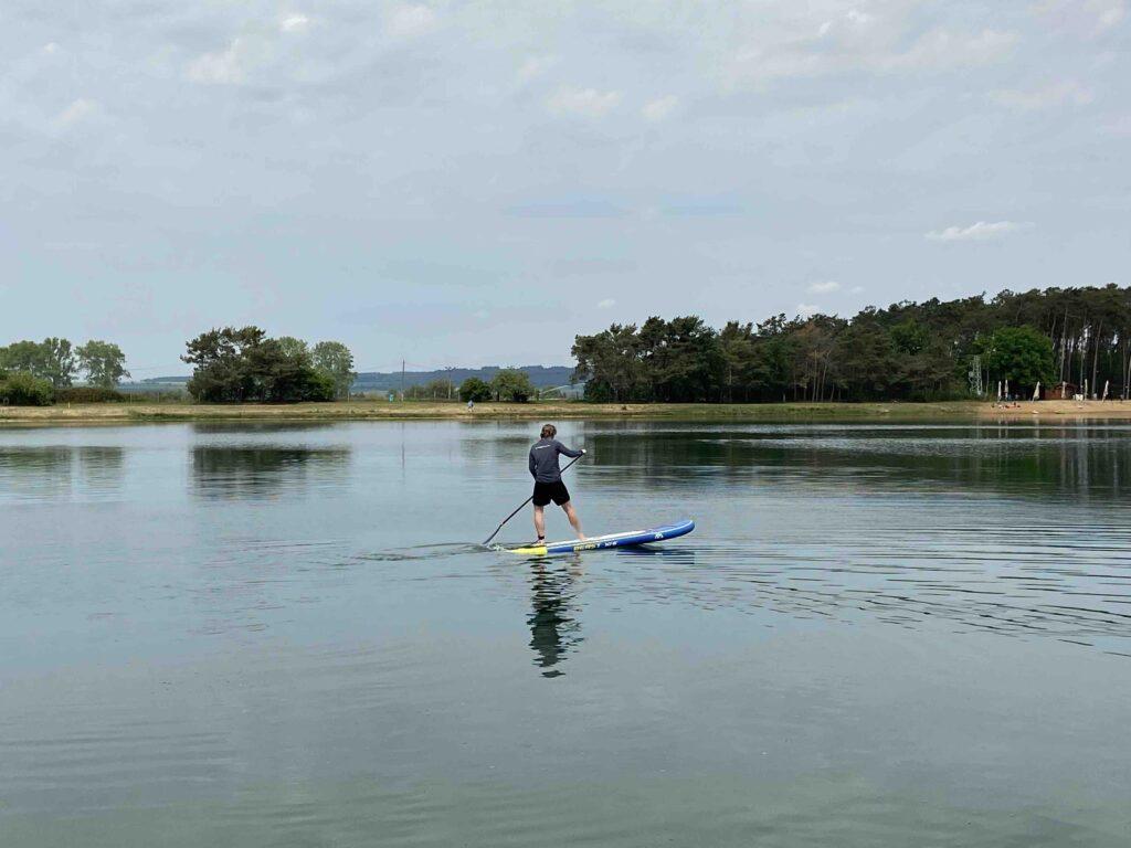 jezero lhota paddleboard otočka