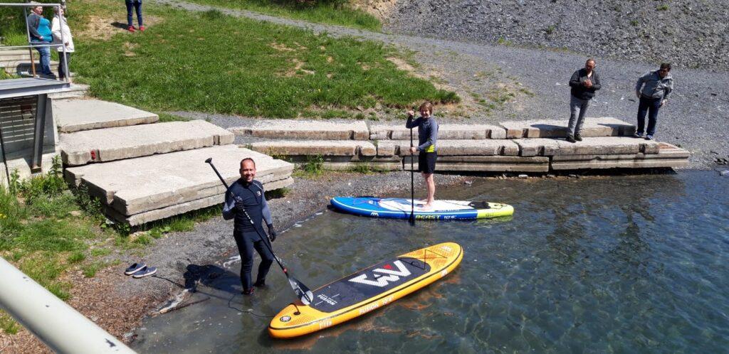 lom šífr paddleboard cool divers