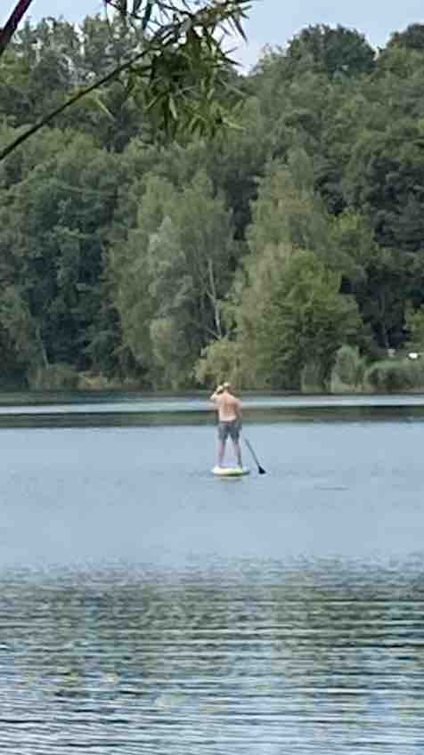 sádrák stříbrné jezero paddleboard